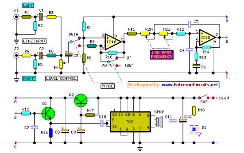 car subwoofer amplifier circuit diagram amplifiercircuits com rh amplifierciruits wordpress com