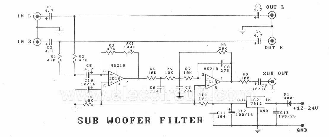 Subwoofer Filter Circuit Board  U2013 Amplifiercircuits Com