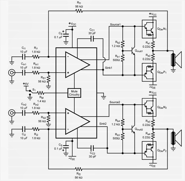 tda7265 amplifier circuit diagram